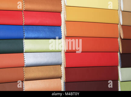 Color guide of leather close up - Stock Photo