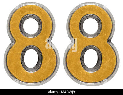 Metal numeral 88, eighty-eight, isolated on white background - Stock Photo