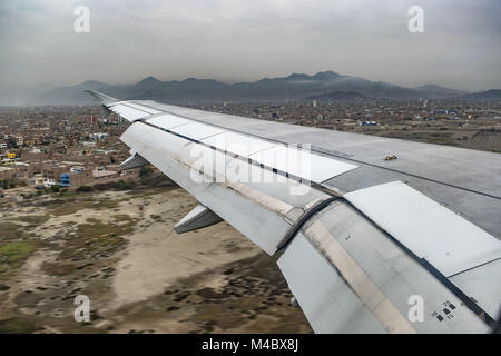 Aerial View from Window Plane - Stock Photo
