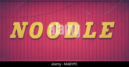 Retro Noodle Bar Sign - Stock Photo