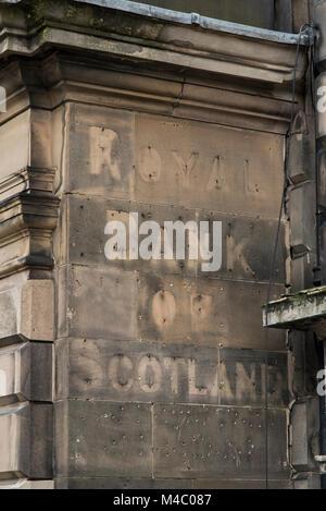 Royal Bank of Scotland closed branch, Edinburgh, Scotland, UK. - Stock Photo
