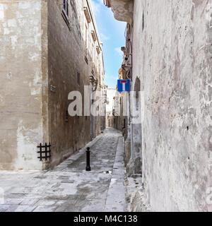 malta - streets of mdina - Stock Photo