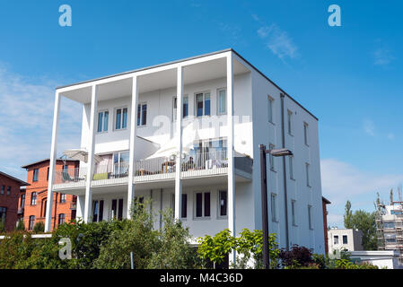 Townhouse Berlin modern townhouse with balconies seen in berlin germany stock photo