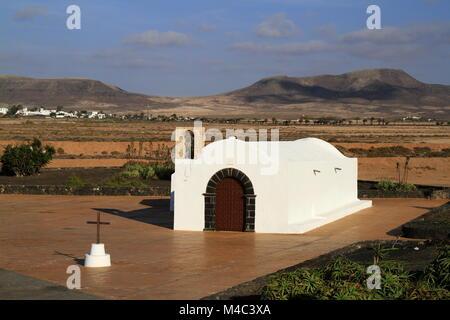 The small church La Ermita in El Cotillo - Stock Photo