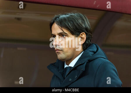 February 15, 2018: Simone Inzaghi - Head Coach (SS Lazio Roma)  during the UEFA Europa League 2017-2018, Round of - Stock Photo