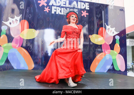 Adelaide, Australia. 16th Feb, 2018. Isobelle Rouge attends the photocall to officially open the Adelaide Fringe - Stock Photo