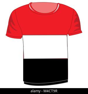T-shirt flag Yemen - Stock Photo