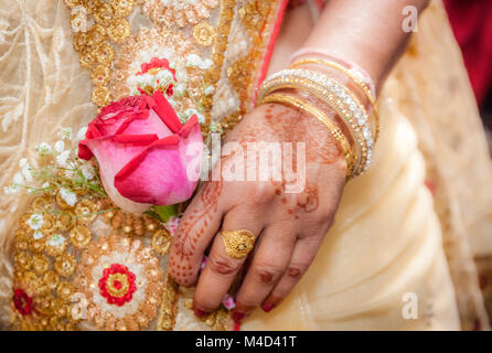 Indian bride hand - Stock Photo