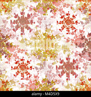 Stylized Floral Collage Seamless Pattern - Stock Photo