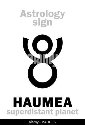 Astrology: planet HAUMEA - Stock Photo