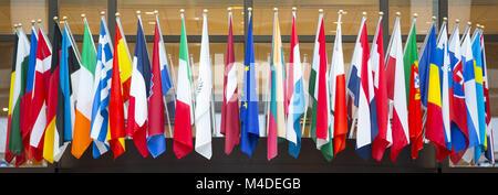 Flags of the European Union - Stock Photo