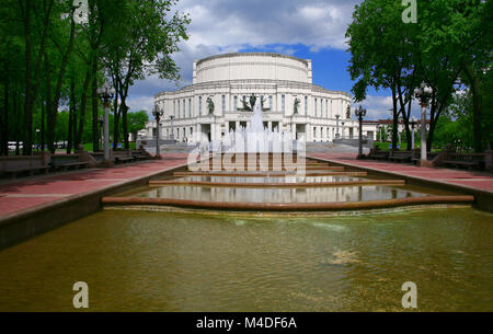 Belarus, Minsk, the National Opera and Ballet Theatre - Stock Photo