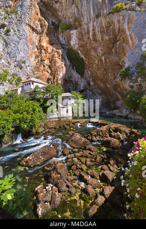 Blagaj dervish house - Bosnia and Herzegovina - Stock Photo