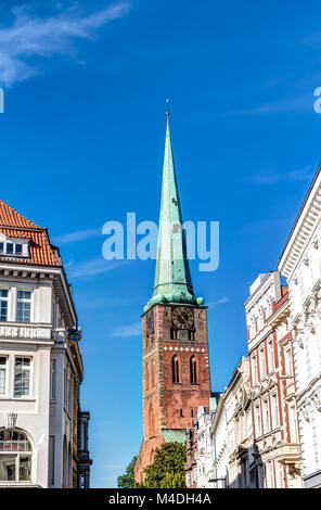 St. Mary's Church in the Hanseatic City of Lubeck - Stock Photo