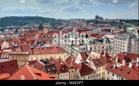 a view on czech daily life on a clear day - Stock Photo