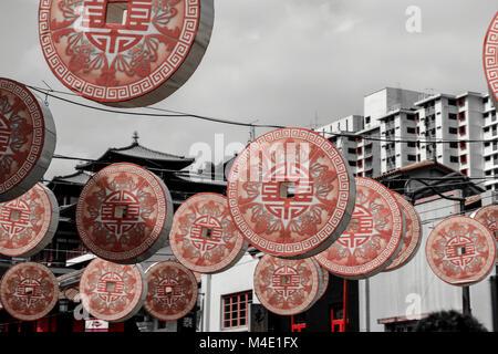 Chinatown Singapore - Stock Photo