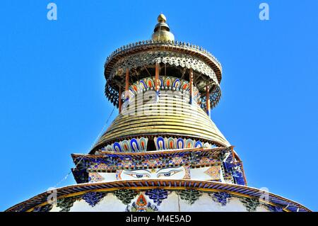 The seeing Stupa of Pelkhor Chöde in Gyantse Tibet China - Stock Photo