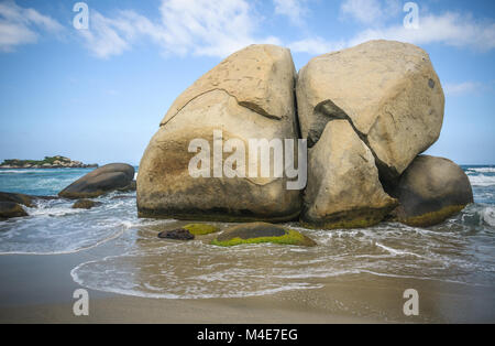 Arrecifes Beach, Tayrona national park, Colombia - Stock Photo