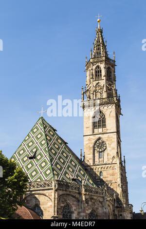 bolzano cathedral, Italy - Stock Photo