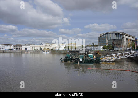 Argentina, Buenos Aires,  old port view - Stock Photo