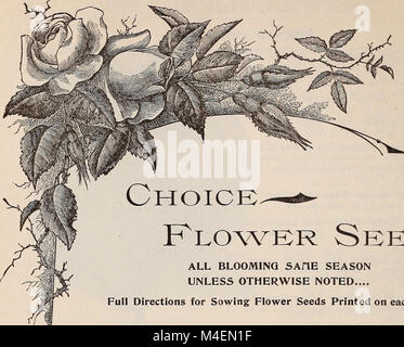 Annual catalogue of high grade garden, flower, field seeds - implements for farm, garden and lawn (1899) (20528861346) - Stock Photo