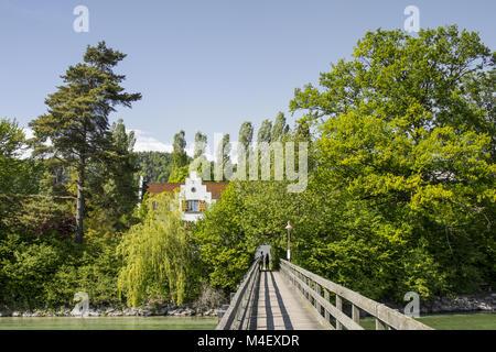 Cloister Island Werd in Eschenz near Stein am Rhein,Switzerland - Stock Photo