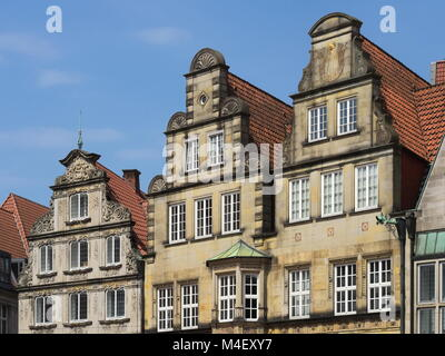Bremen - Gabled houses on the market square, Germany - Stock Photo