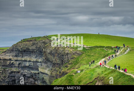 Walkway on the Cliffs of Moher - Stock Photo