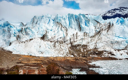 Perito Moreno Glacier, one of Argentina travel top destinations. - Stock Photo