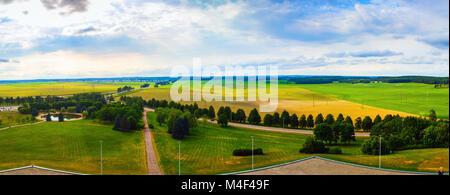 Panoramic rural landscape - Stock Photo