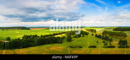 Panoramic summer landscape - Stock Photo