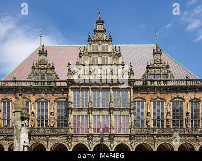 Bremen - Town Hall and Roland Statue, Germany