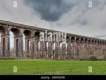 Ouse Valley Viaduct. Sussex. UK - Stock Photo