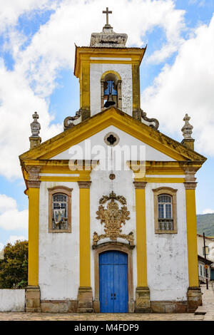 Old and historic church in Ouro Preto - Stock Photo