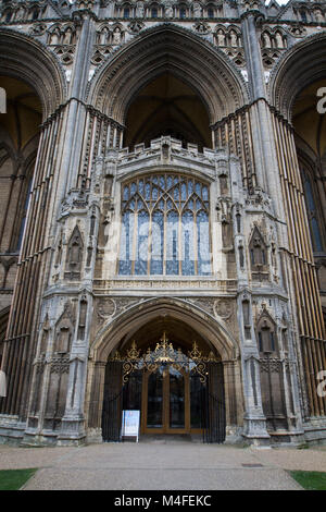 PETERBOROUGH, UK, - FEBRUARY 12, 2018. Peterborough Cathedral is an example of historic architecture in the city - Stock Photo