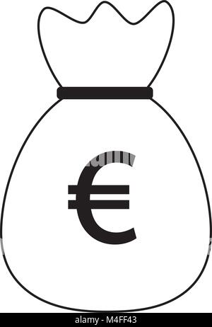 Money Bag With Euro Symbol Stock Photo 21717762 Alamy