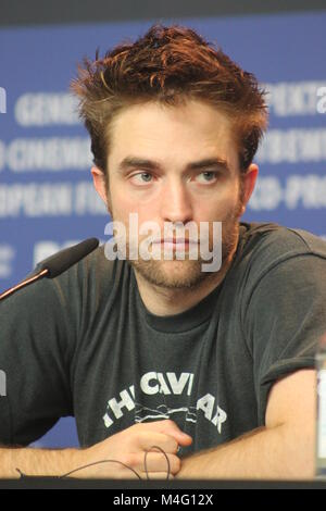 """Press conference at the Grand Hyatt Hotel in Berlin/Germany for """"Damsel"""" by 68th BERLINALE (International Film Festival.) - Stock Photo"""