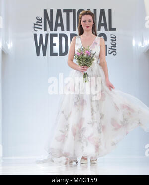London UK 16 February 2018 The Wedding Show return to London Olympia ,the ultimate show, from runways shows showcasing - Stock Photo