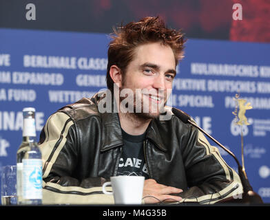 Berlin, Germany. 16th Feb, 2018. Actor Robert Pattinson attends a press conference of film 'Damsel' during the 68th - Stock Photo