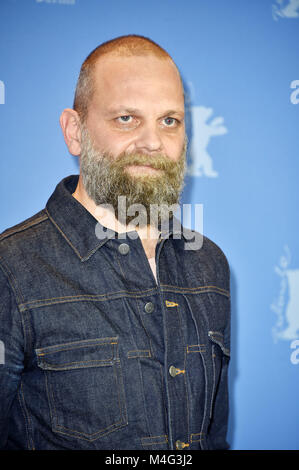 Berlin, Germany. 16th Feb, 2018. Wolfgang Fischer during the 'Styx' photocall at the 68th Berlin International Film - Stock Photo