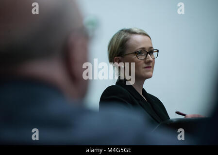 Manchester, UK. 16th February, 2018. Rebecca Long-Bailey MP, Member of Parliament for Salford and Eccles and shadow - Stock Photo