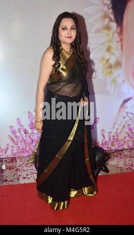Mumbai, India. 16th Feb, 2018. Indian actress Jaya Prada present at the 5th Yash Chopra Memorial Award at hotel - Stock Photo