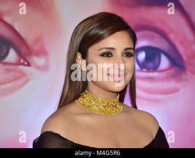 Mumbai, India. 16th Feb, 2018. Indian actress Parineeti Chopra present at the 5th Yash Chopra Memorial Award at - Stock Photo