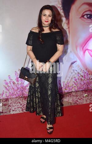 Mumbai, India. 16th Feb, 2018. Indian actress Poonam Dhillon present at the 5th Yash Chopra Memorial Award at hotel - Stock Photo