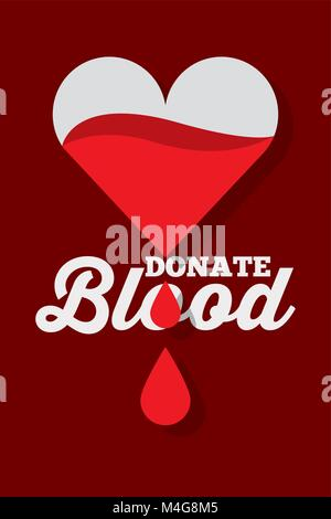 dripping heart donate blood - Stock Photo