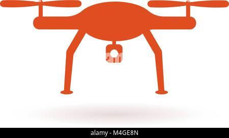 Wifi Drone icon. Vector illustration - Stock Photo