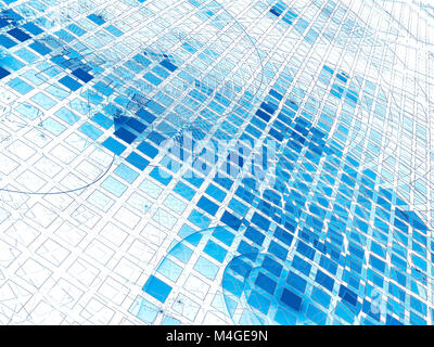 Glowing cells - abstract digitally generated image - Stock Photo