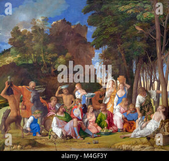The Feast of the Gods, Giovanni Bellini and Titian, 1514-1529, National Gallery of Art, Washington DC, USA, North - Stock Photo