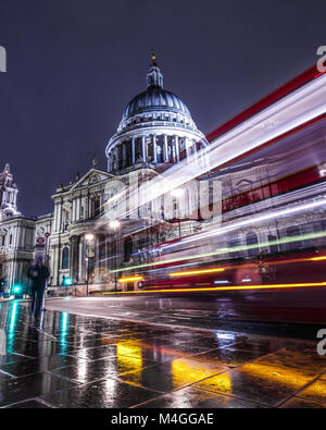 St. Pauls Cathedral long exposure - Stock Photo