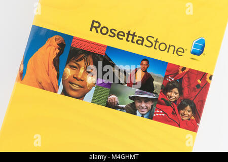 Rosetta Stone language learning course software - Stock Photo